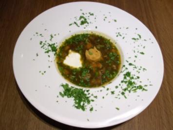 Beluga-Linsen-Suppe