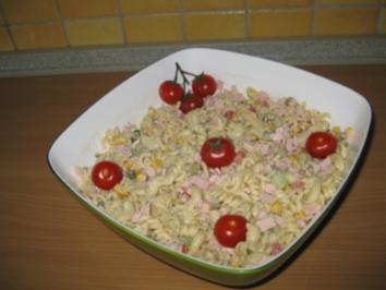 Rezept mit bild bunter nudelsalat