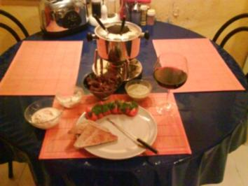 Fondue: Provencalisches Fleischfondue
