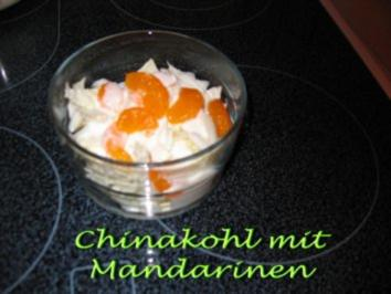 Rezept: Chinakohlsalat mit Mandarinen