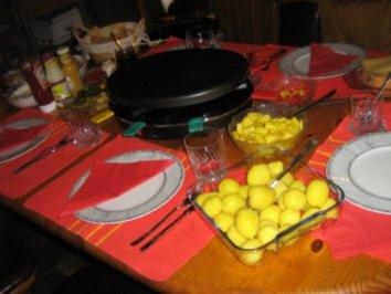 Raclette fr unsere Silvesterfeier