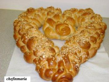 Rezept: brioch-herz (striezl)