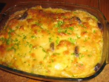 kartoffel lachs gratin mit champignon rahm rezepte suchen. Black Bedroom Furniture Sets. Home Design Ideas