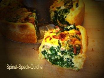 Spinat-Speck-Quiche