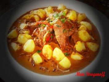 Rinderfilet - Stroganoff - Flammbe