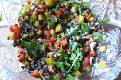 bunter sommer salat mit berglinsen rezept. Black Bedroom Furniture Sets. Home Design Ideas