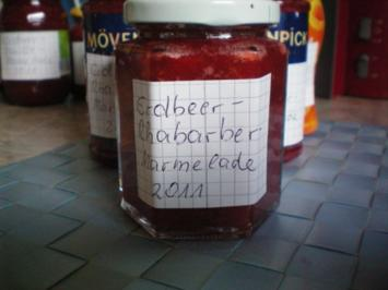 Meine Erdbeer-Rhabarber-Marmelade