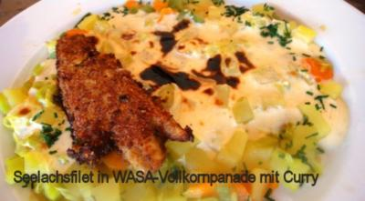 Rezept: Seelachs in Vollkorn-Curry-Kruste auf Lauchkartoffelgratin Bild Nr. 7