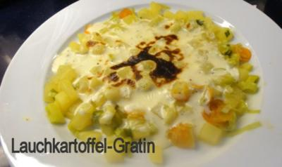 Rezept: Seelachs in Vollkorn-Curry-Kruste auf Lauchkartoffelgratin Bild Nr. 4