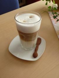 latte macchiato mit senseo rezept mit bild. Black Bedroom Furniture Sets. Home Design Ideas