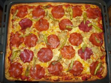 14 pizzateig mit salami und trockenhefe rezepte. Black Bedroom Furniture Sets. Home Design Ideas