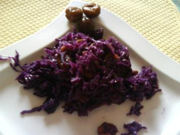 Rotkohl mit Maronen