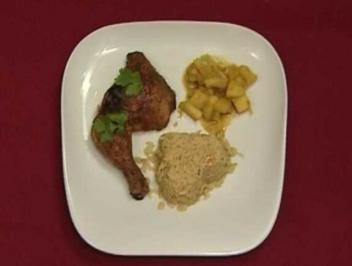 Tobago Chicken mit tropischem Reis und Curry-pfeln (Peter Imhof)