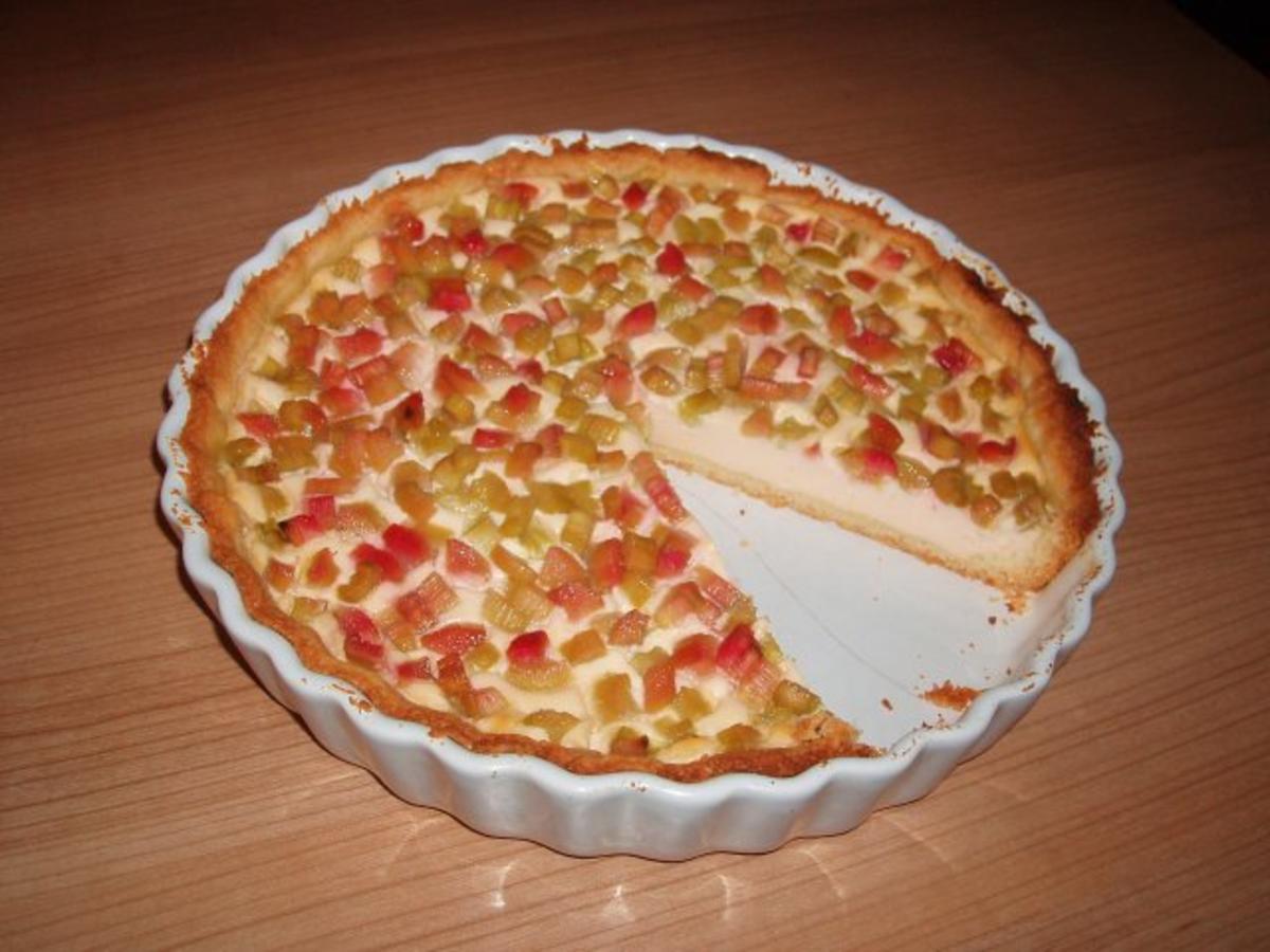 Rhabarber quark kuchen rezept mit bild for Kochen rhabarber