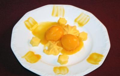 mango chili sorbet mit mango espuma rezept. Black Bedroom Furniture Sets. Home Design Ideas