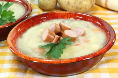Kartoffelsuppe mit Wrstchen