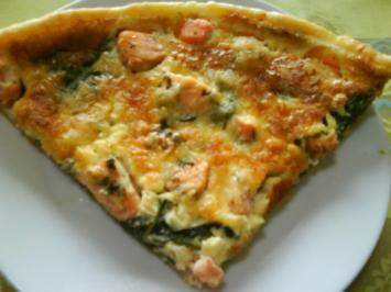 Quiche au saumon et aux pinards