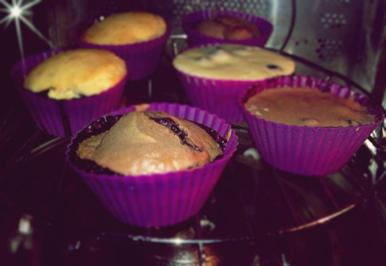 Blaubeer Schokoladen / Zitronen Muffins