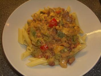 Rezept mit bild pasta in pfeffer schinken creme