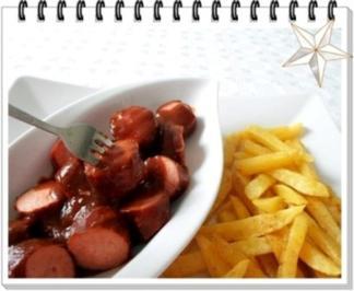 currywurst nat rlich mit selbstgemachter pommes und currysauce rezept. Black Bedroom Furniture Sets. Home Design Ideas