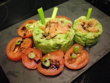 vorspeise avocado mit lachs rezept mit bild. Black Bedroom Furniture Sets. Home Design Ideas