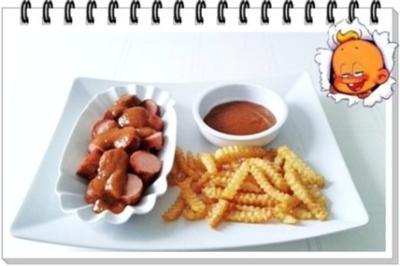 currysauce currywurst wellenschnitt pommes nach art des. Black Bedroom Furniture Sets. Home Design Ideas