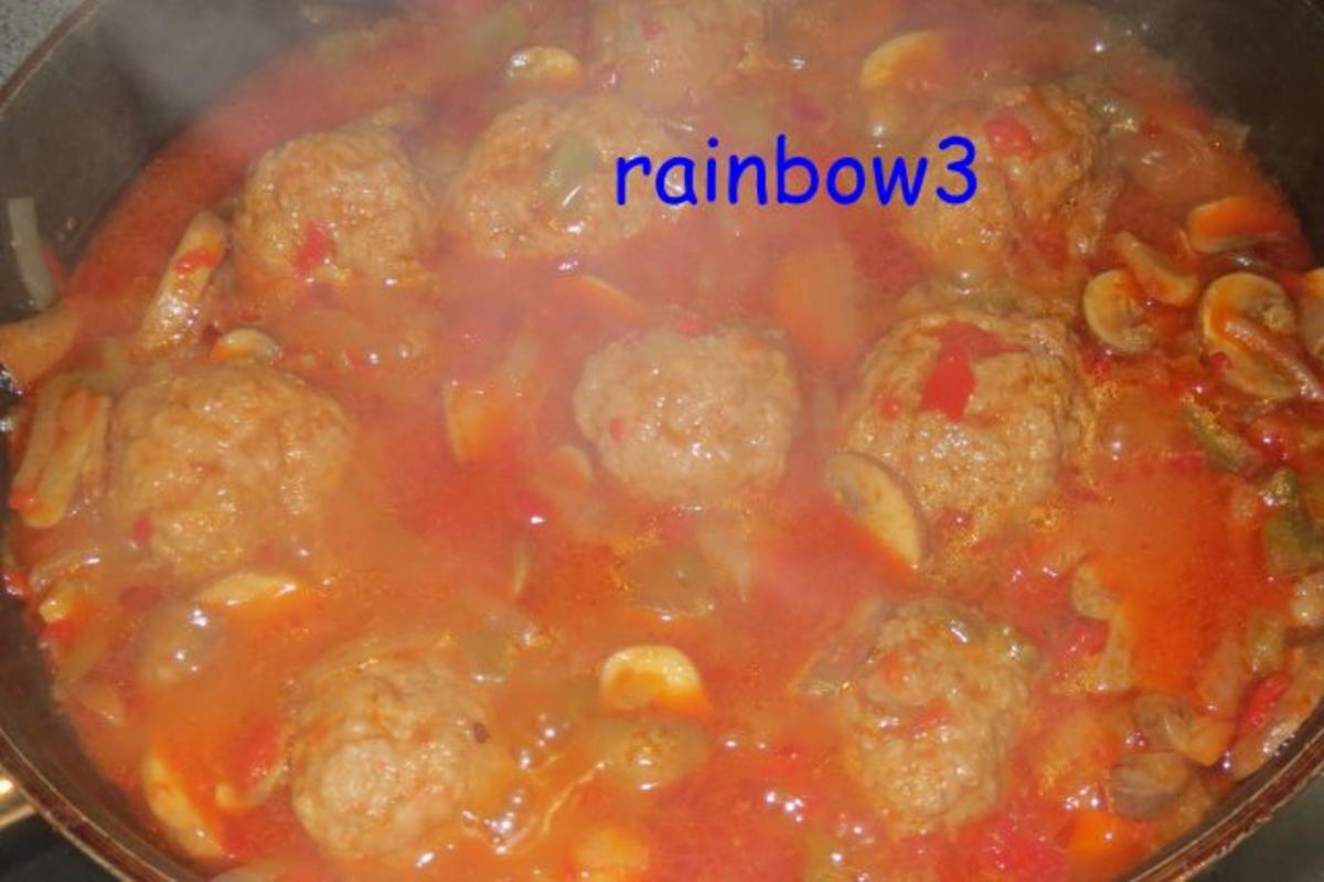 Kochen hackb llchen in paprika champignon sauce rezept for Kochen im sommer