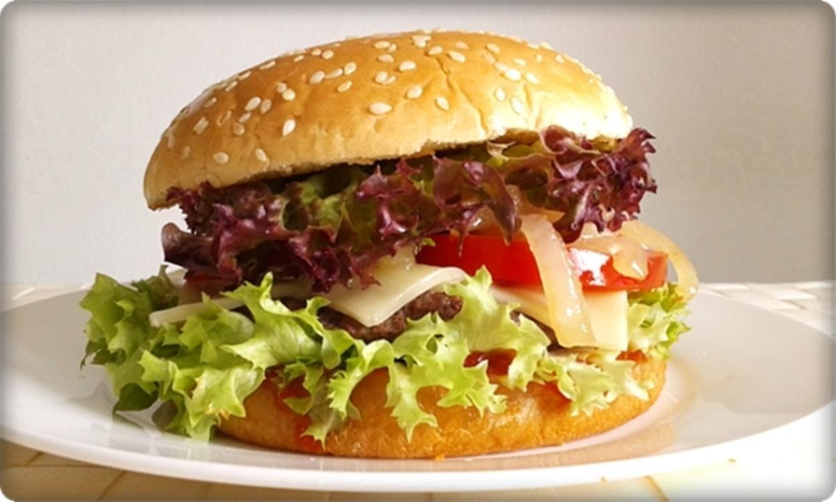 xxl burger mit lollo rosso salat nach art des hauses rezept. Black Bedroom Furniture Sets. Home Design Ideas
