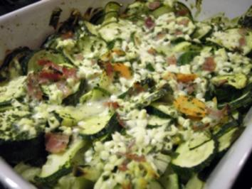 Schlanker Zucchiniauflauf mit Cottage Cheese